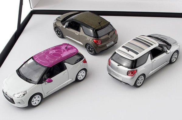 Citroën LifeStyle - Set of three Citroën DS3 White /  Alu Grey / Brown 2012 1:43